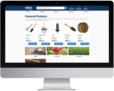 featured products of integrated eCommerce site