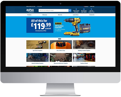 homepage of an integrated eCommerce site