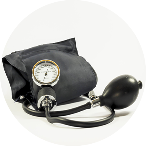 blood pressure device on a white background