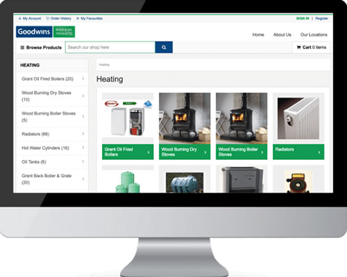 Heating products on Goodwins website